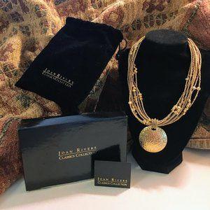 Joan Rivers Vintage Gold Tone Necklace